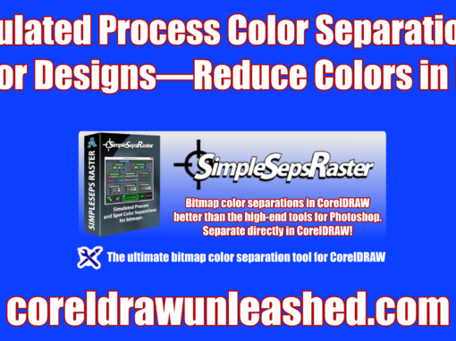 Simulated Process Color Separation of Vector Designs to Reduce the Colors in a Print